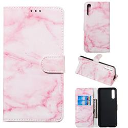 Pink Marble PU Leather Wallet Case for Samsung Galaxy A50