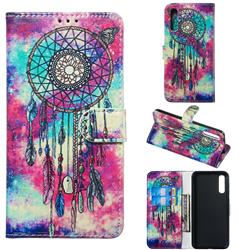Butterfly Chimes PU Leather Wallet Case for Samsung Galaxy A50