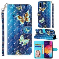 Rankine Butterfly 3D Leather Phone Holster Wallet Case for Samsung Galaxy A50