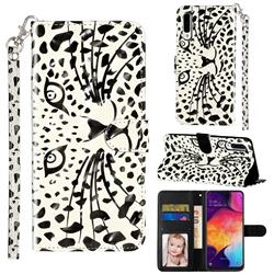 Leopard Panther 3D Leather Phone Holster Wallet Case for Samsung Galaxy A50