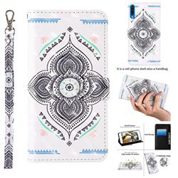 Mandala Totem 3D Painted Leather Wallet Case for Samsung Galaxy A50