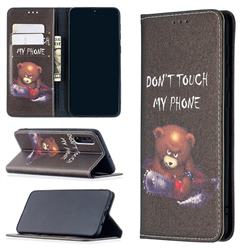 Chainsaw Bear Slim Magnetic Attraction Wallet Flip Cover for Samsung Galaxy A50