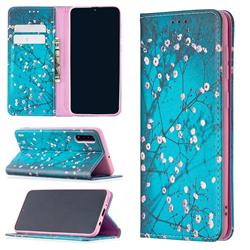 Plum Blossom Slim Magnetic Attraction Wallet Flip Cover for Samsung Galaxy A50