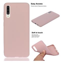 Soft Matte Silicone Phone Cover for Samsung Galaxy A50s - Lotus Color