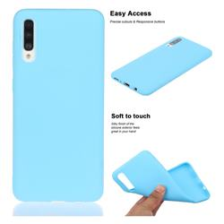Soft Matte Silicone Phone Cover for Samsung Galaxy A50s - Sky Blue