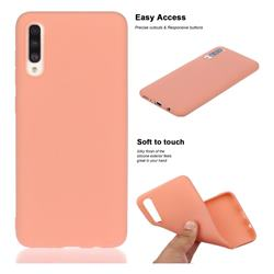 Soft Matte Silicone Phone Cover for Samsung Galaxy A50s - Coral Orange
