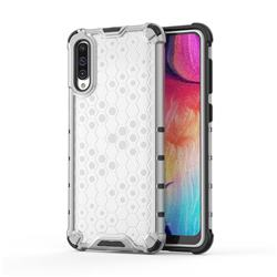 Honeycomb TPU + PC Hybrid Armor Shockproof Case Cover for Samsung Galaxy A50s - Transparent