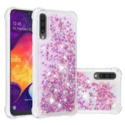 Dynamic Liquid Glitter Sand Quicksand Star TPU Case for Samsung Galaxy A50s - Rose