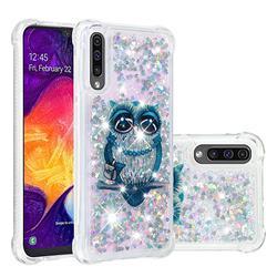 Sweet Gray Owl Dynamic Liquid Glitter Sand Quicksand Star TPU Case for Samsung Galaxy A50s