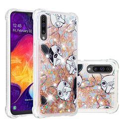 Bulldog Dynamic Liquid Glitter Sand Quicksand Star TPU Case for Samsung Galaxy A50s