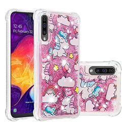Angel Pony Dynamic Liquid Glitter Sand Quicksand Star TPU Case for Samsung Galaxy A50s