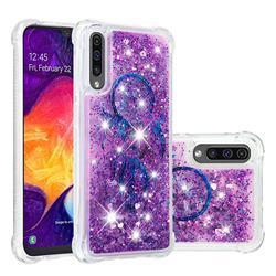 Retro Wind Chimes Dynamic Liquid Glitter Sand Quicksand Star TPU Case for Samsung Galaxy A50s