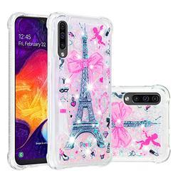 Mirror and Tower Dynamic Liquid Glitter Sand Quicksand Star TPU Case for Samsung Galaxy A50s