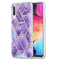 Purple Gagic Marble Pattern Galvanized Electroplating Protective Case Cover for Samsung Galaxy A50s