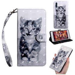 Smiley Cat 3D Painted Leather Wallet Case for Samsung Galaxy A50s