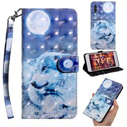 Moon Wolf 3D Painted Leather Wallet Case for Samsung Galaxy A50s
