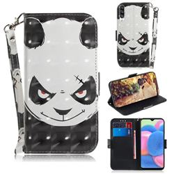 Angry Bear 3D Painted Leather Wallet Phone Case for Samsung Galaxy A50s
