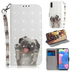 Pug Dog 3D Painted Leather Wallet Phone Case for Samsung Galaxy A50s