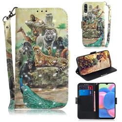 Beast Zoo 3D Painted Leather Wallet Phone Case for Samsung Galaxy A50s