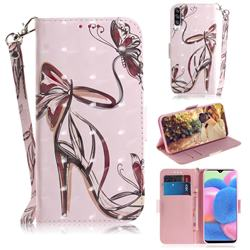 Butterfly High Heels 3D Painted Leather Wallet Phone Case for Samsung Galaxy A50s