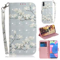 Magnolia Flower 3D Painted Leather Wallet Phone Case for Samsung Galaxy A50s