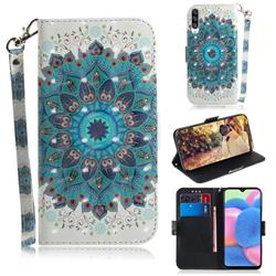 Peacock Mandala 3D Painted Leather Wallet Phone Case for Samsung Galaxy A50s