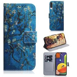 Apricot Tree PU Leather Wallet Case for Samsung Galaxy A50s