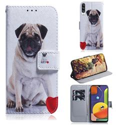 Pug Dog PU Leather Wallet Case for Samsung Galaxy A50s