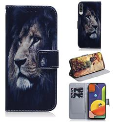 Lion Face PU Leather Wallet Case for Samsung Galaxy A50s