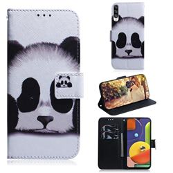 Sleeping Panda PU Leather Wallet Case for Samsung Galaxy A50s