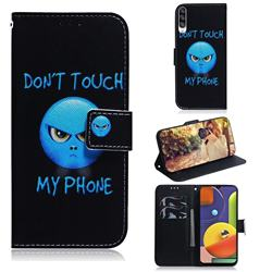 Not Touch My Phone PU Leather Wallet Case for Samsung Galaxy A50s