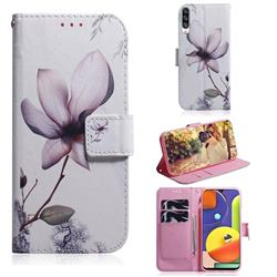 Magnolia Flower PU Leather Wallet Case for Samsung Galaxy A50s