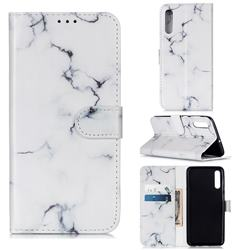 Soft White Marble PU Leather Wallet Case for Samsung Galaxy A50s