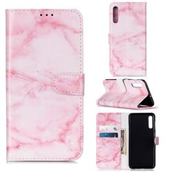 Pink Marble PU Leather Wallet Case for Samsung Galaxy A50s
