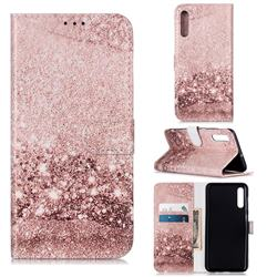 Glittering Rose Gold PU Leather Wallet Case for Samsung Galaxy A50s