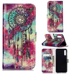 Butterfly Chimes PU Leather Wallet Case for Samsung Galaxy A50s