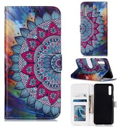 Mandala Flower 3D Relief Oil PU Leather Wallet Case for Samsung Galaxy A50s