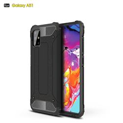 King Kong Armor Premium Shockproof Dual Layer Rugged Hard Cover for Samsung Galaxy A51 - Black Gold