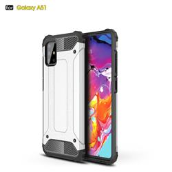 King Kong Armor Premium Shockproof Dual Layer Rugged Hard Cover for Samsung Galaxy A51 - White