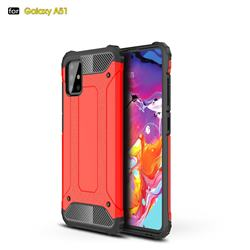King Kong Armor Premium Shockproof Dual Layer Rugged Hard Cover for Samsung Galaxy A51 - Big Red