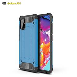 King Kong Armor Premium Shockproof Dual Layer Rugged Hard Cover for Samsung Galaxy A51 - Sky Blue