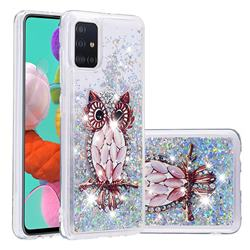 Seashell Owl Dynamic Liquid Glitter Quicksand Soft TPU Case for Samsung Galaxy A51