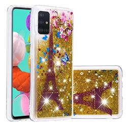 Golden Tower Dynamic Liquid Glitter Quicksand Soft TPU Case for Samsung Galaxy A51