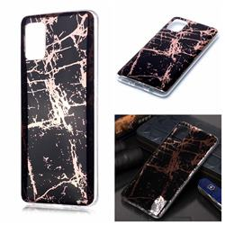Black Galvanized Rose Gold Marble Phone Back Cover for Samsung Galaxy A51