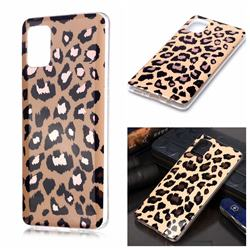 Leopard Galvanized Rose Gold Marble Phone Back Cover for Samsung Galaxy A51 4G