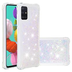 Dynamic Liquid Glitter Sand Quicksand Star TPU Case for Samsung Galaxy A51 4G - Pink