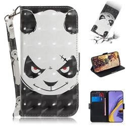 Angry Bear 3D Painted Leather Wallet Phone Case for Samsung Galaxy A51