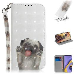 Pug Dog 3D Painted Leather Wallet Phone Case for Samsung Galaxy A51