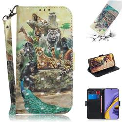 Beast Zoo 3D Painted Leather Wallet Phone Case for Samsung Galaxy A51
