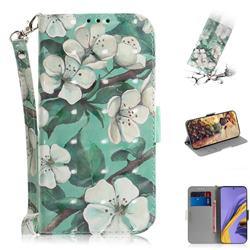 Watercolor Flower 3D Painted Leather Wallet Phone Case for Samsung Galaxy A51
